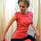 """Платья ручной работы. Ярмарка Мастеров - ручная работа. Купить Валяное платье """"Tourmaline rose"""". Handmade. Розовый, валяное платье"""