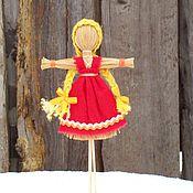 Народная кукла ручной работы. Ярмарка Мастеров - ручная работа Масленица -  чучело сувенирное рост 15 см. Handmade.