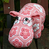 Stuffed Toys handmade. Livemaster - original item The Hippo Alex. Handmade.