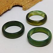 Украшения handmade. Livemaster - original item 17.5 green agate ring (Mal 17.5). Handmade.