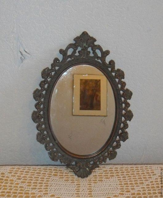 Винтажные предметы интерьера. Ярмарка Мастеров - ручная работа. Купить Два овальных зеркала в ажурных рамах. Винтажное зеркало.. Handmade.