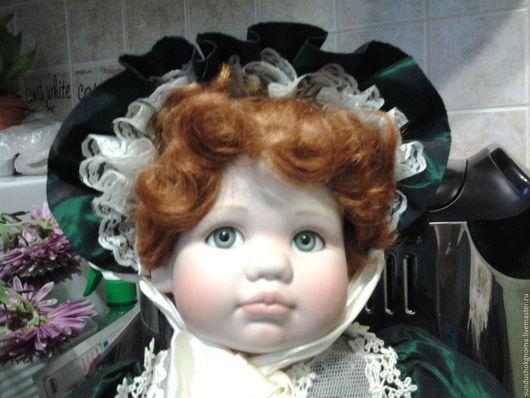 Коллекционные куклы ручной работы. Ярмарка Мастеров - ручная работа. Купить фарфоровая винтажная кукла Джоржтаун. Handmade. Бледно-розовый