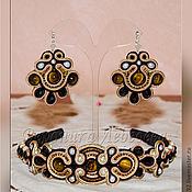 Украшения ручной работы. Ярмарка Мастеров - ручная работа Сутажный комплект Tribute to Dolce & Gabbana. Handmade.