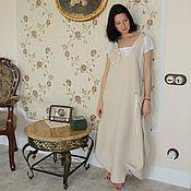 Одежда ручной работы. Ярмарка Мастеров - ручная работа Сарафан льняной длинный Нежность ( бохо, для беременных). Handmade.