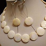 Украшения handmade. Livemaster - original item Necklace and earrings 925 made of sea Mother of Pearl