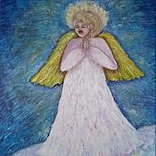 """Картины и панно ручной работы. Ярмарка Мастеров - ручная работа Картина """" О чём поёт небесный ангел?"""". Handmade."""