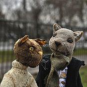 Куклы и игрушки ручной работы. Ярмарка Мастеров - ручная работа Шерлок и Джон.Коты,друзья Тедди. Handmade.