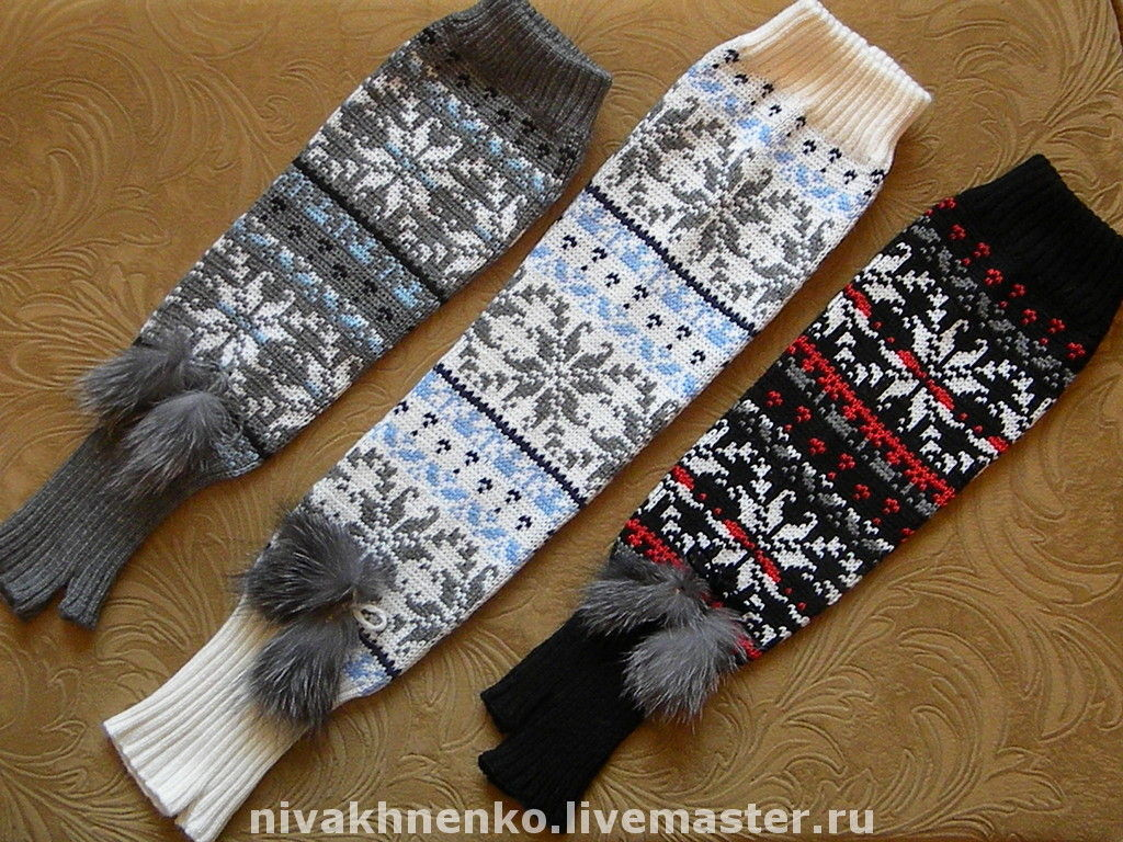 Knitted mittens with Norwegian ornament, Mitts, Moscow,  Фото №1