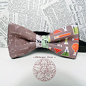 Аксессуары handmade. Livemaster - original item Bow tie Chemistry/ Mendeleev/ chemist/ science/ flasks/ vials/ form. Handmade.