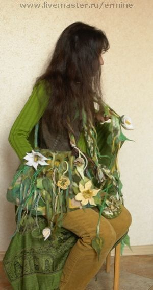 Handbags handmade. Livemaster - handmade. Buy felted handbag'the green Grass'.Bag, felt bag, felt