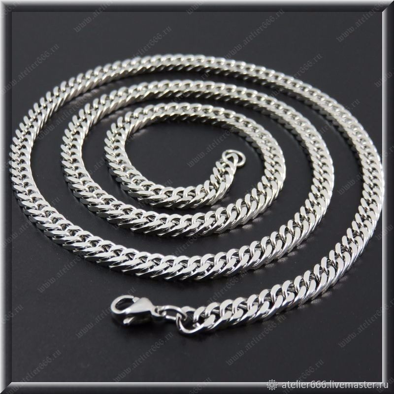 Chain steel no. 6 Width 3.5 mm, length 61 cm, Chain, Moscow,  Фото №1