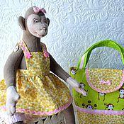 """Мягкие игрушки ручной работы. Ярмарка Мастеров - ручная работа """"Веселая Моника"""" подарочный набор для девочки.. Handmade."""
