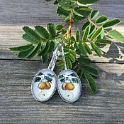 Украшения handmade. Livemaster - original item Silver plated earrings Pear. Handmade.