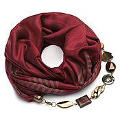 Аксессуары handmade. Livemaster - original item Cashmere scarf-necklace (Burgundy). Handmade.