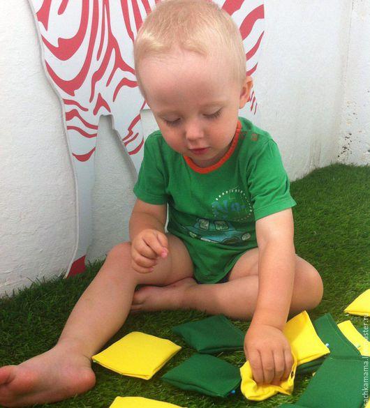 Развивающие игрушки ручной работы. Ярмарка Мастеров - ручная работа. Купить Сенсорные мешочки Монтессори. Handmade. Сенсорная игрушка