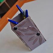 Канцелярские товары ручной работы. Ярмарка Мастеров - ручная работа Подставка для кистей. Handmade.