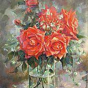 """Картины и панно ручной работы. Ярмарка Мастеров - ручная работа """"Аленькие цветочки"""" холст,масло. Handmade."""