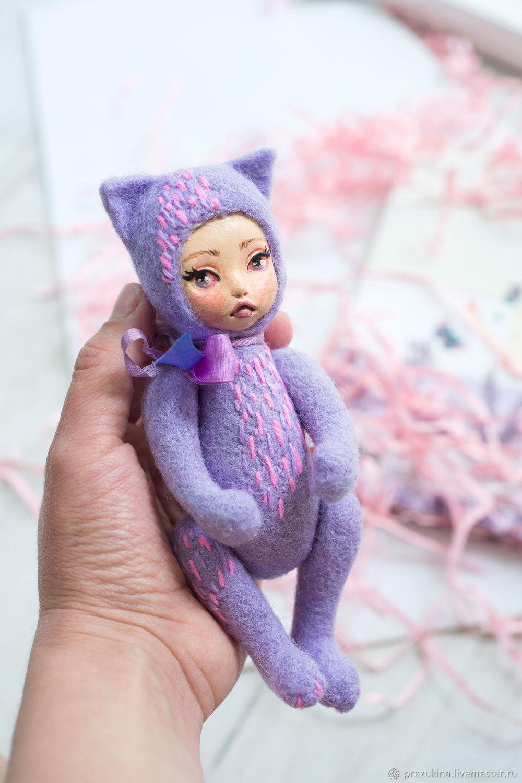 Felted Teddy-doll kitty Vivi, Teddy Doll, Sevastopol,  Фото №1