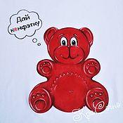 Одежда детская handmade. Livemaster - original item Bear Valera children`s T-shirt with painting. Handmade.