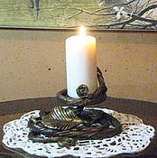 """Для дома и интерьера handmade. Livemaster - original item Подсвечник """" Осенний вечер """". Handmade."""