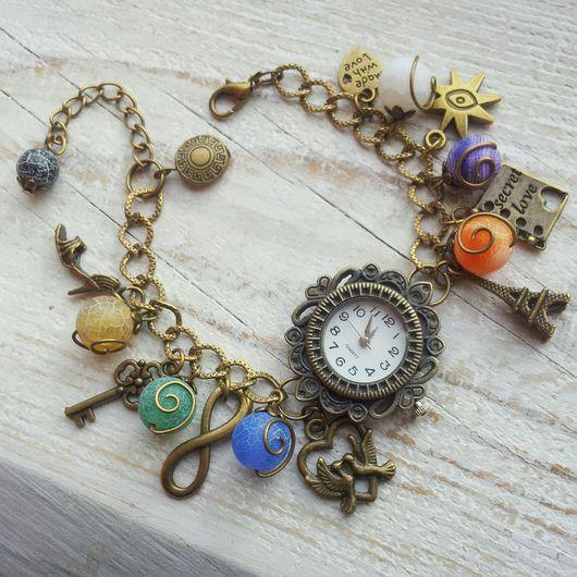 """Часы ручной работы. Ярмарка Мастеров - ручная работа. Купить Часы-браслет """"Талисман"""". Handmade. Часы ручной работы"""