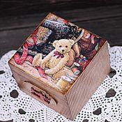 """Для дома и интерьера ручной работы. Ярмарка Мастеров - ручная работа Шкатулка для рукоделия """"My dear teddy"""". Handmade."""