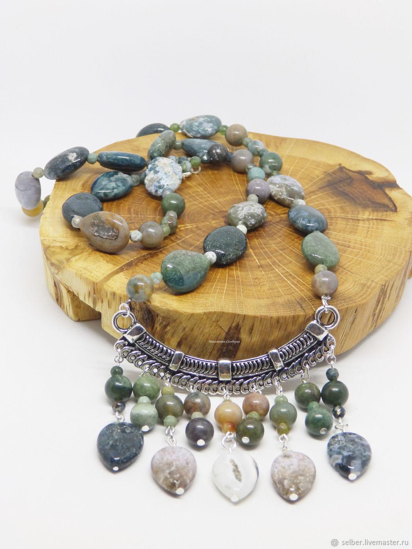 Lesovea Necklace Green Chalcedony, Necklace, Gatchina,  Фото №1