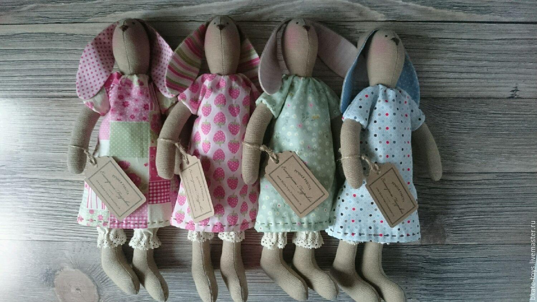 Игрушки животные, ручной работы. Ярмарка Мастеров - ручная работа. Купить Интерьерная текстильная игрушка Тильда Зайка в платьице. Handmade.