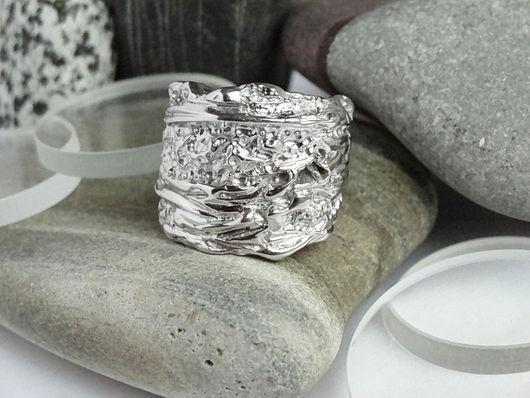 Кольца ручной работы. Ярмарка Мастеров - ручная работа. Купить Фактурное кольцо из серебра. Handmade. Природный, серебро, необычное кольцо