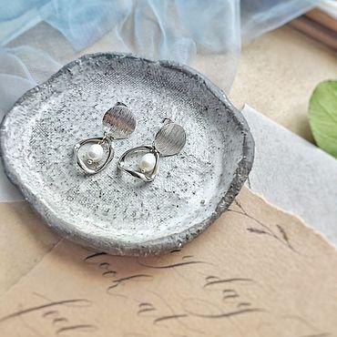 Свадебный салон ручной работы. Ярмарка Мастеров - ручная работа Серьги с жемчугом. Handmade.