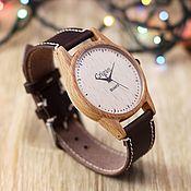 Украшения handmade. Livemaster - original item Wooden watches, men`s watches, beech, 07I4035BB. Handmade.