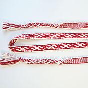 Русский стиль handmade. Livemaster - original item Woven belt with Slavic pattern of