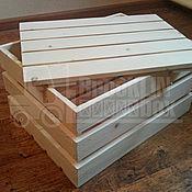 Материалы для творчества ручной работы. Ярмарка Мастеров - ручная работа Ящик деревянный с крышкой. Handmade.