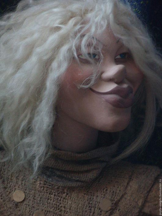 Коллекционные куклы ручной работы. Ярмарка Мастеров - ручная работа. Купить Веселый рыцарь. Handmade. Оранжевый, фантазия, лён