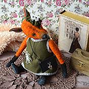 Куклы и игрушки ручной работы. Ярмарка Мастеров - ручная работа Лиса тедди Мила. Handmade.