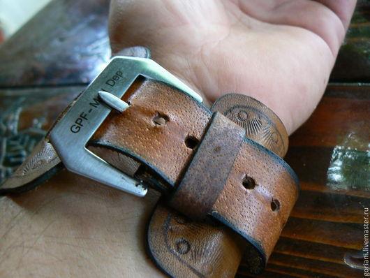 Варежки, митенки, перчатки ручной работы. Ярмарка Мастеров - ручная работа. Купить Кожаный ремешок для часов. Handmade. Ремешок для часов