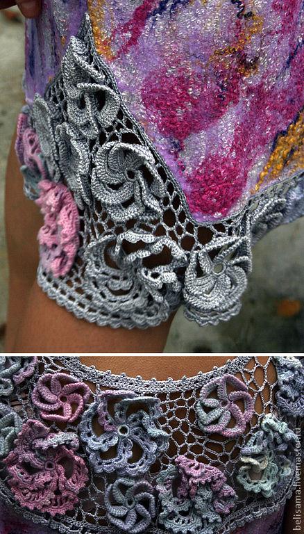 """Платья ручной работы. Ярмарка Мастеров - ручная работа. Купить Платье """"Цветение. Рассвет"""". Handmade. Платье, нуновойлок, серебристый"""