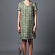 платье дизайнерское  из оригинальной твидовой  ткани