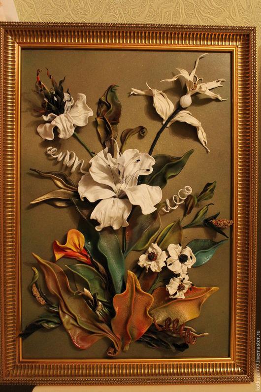 Картины цветов ручной работы. Ярмарка Мастеров - ручная работа. Купить Фантазийные цветы №3. Handmade. Комбинированный, Картины и панно