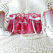 Свадебный салон ручной работы. Ярмарка Мастеров - ручная работа Подвязка цвета фуксии. Handmade.