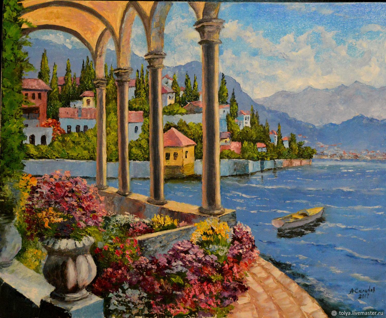 Pintura al leo a mano para so mediterr neo compra u for Plantas jardin mediterraneo