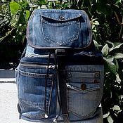 Сумки и аксессуары handmade. Livemaster - original item Colins denim backpack. Handmade.