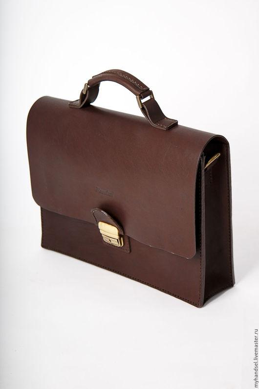 Кожаный портфель Stand/ кожа быка/ исключительно ручная работа/ Приглашаем Вас в гости vk.com/myhandsel