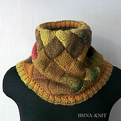 Аксессуары handmade. Livemaster - original item Mustard Snood scarf tube interlock. Handmade.