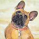 Panels - French bulldog. Pictures. Handmade studio - Anna Aleskovskaya. Online shopping on My Livemaster.  Фото №2
