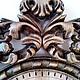 Часы для дома ручной работы. Настенные кварцевые часы в резной буковой раме. Сергей. Интернет-магазин Ярмарка Мастеров.