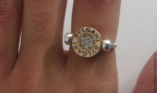 Кольца ручной работы. Ярмарка Мастеров - ручная работа. Купить Серебряное кольцо BVLGARY- трансформер. Handmade. Серебряный, bvlgary, позолота