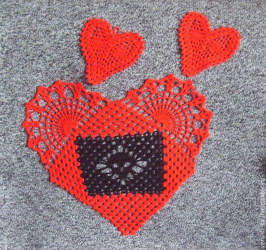 Готика ручной работы. Ярмарка Мастеров - ручная работа. Купить Салфетка Сердце с черепом. Handmade. Сердце, готический стиль