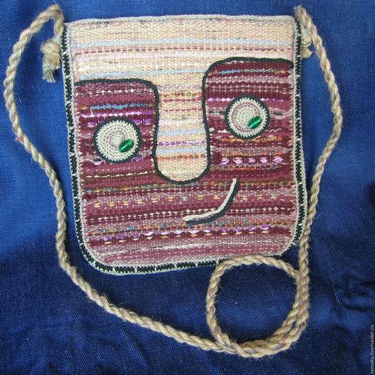 Женские сумки ручной работы. Ярмарка Мастеров - ручная работа. Купить Тканая сумка. Handmade. Сумка, рисунок, ручное ткачество