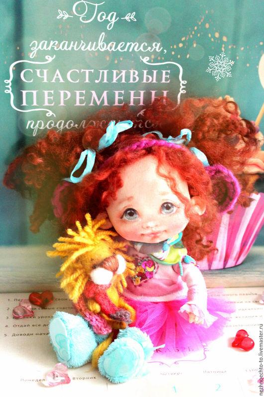 Коллекционные куклы ручной работы. Ярмарка Мастеров - ручная работа. Купить Лилу. Handmade. Девочка-обезьнка, маленькая девочка, бисер
